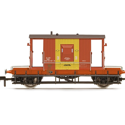Hornby R6985 BR D1/507 20 ton brake van B954913 in BR brown and yellow