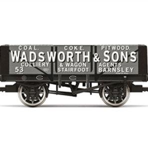 "Hornby R60024 5-plank wagon ""Wadsworth & Sons -Barnsley"" - Due Jun-21"