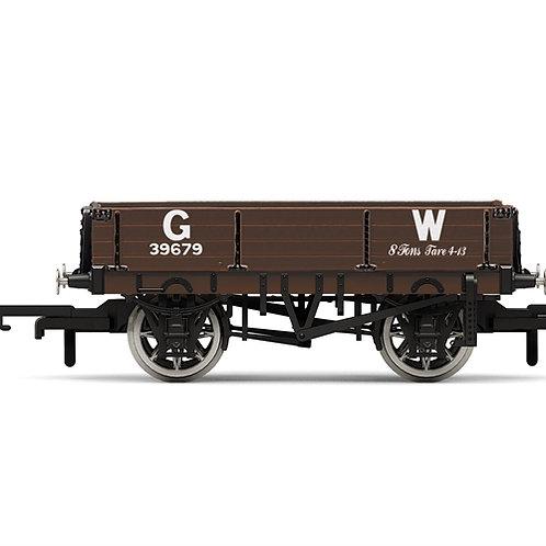 Hornby R6943 3-plank open wagon GW 39679 in GWR brown
