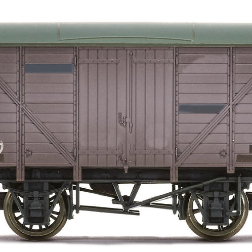 Hornby R6925TTS 4-wheel 10 ton vent van in plain freight grey - TTS sound fitted