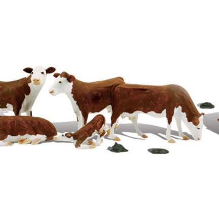 00 Gauge Figures Hereford Cows