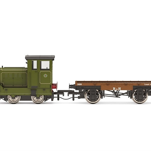 Hornby R3704 Ruston 48DS 269595 in pale green with match wagon