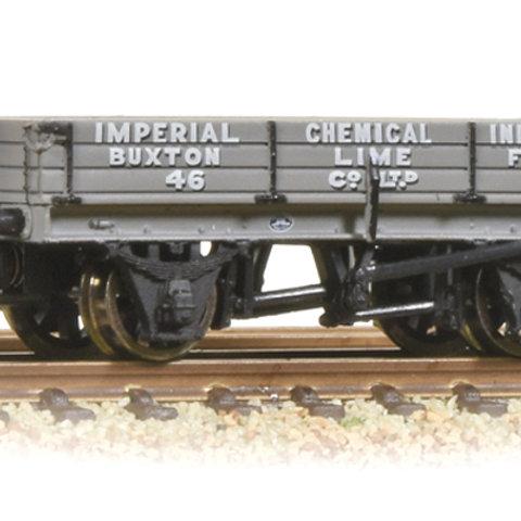 Bachmann 37-925A 3 Plank Wagon 'ICI Buxton Lime'