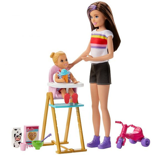 Barbie Sisters Feeding Time Playset
