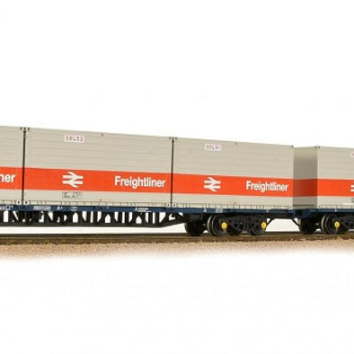 Bachmann 38-625 Classic freightliner bogie wagons. Pack of 2
