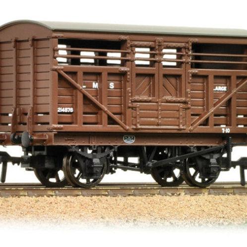 Bachmann Branchline 37-708A 12 Ton LMS Cattle Wagon LMS Brown