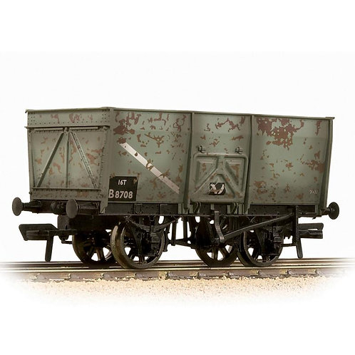 Bachmann 37-425B 16 ton slope sided steel mineral wagon in BR grey - weathered