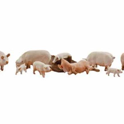 00 Gauge Figures Yorkshire Pigs