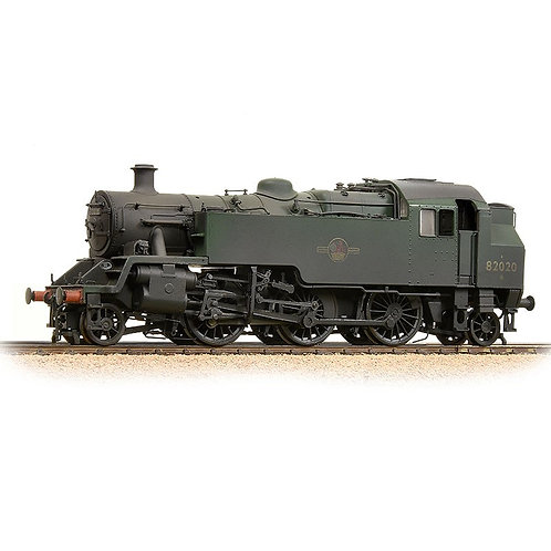 Bachmann 31-980 BR Standard Class 3MT 82020 BR Green Late Crest (Weathered)