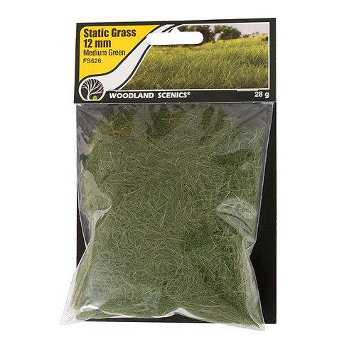 Woodland Scenics FS626 12mm Static Grass Medium Green