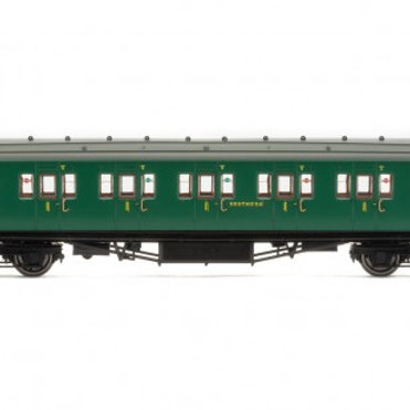 Hornby R4734 Maunsell corridor first 7406 in SR malachite green
