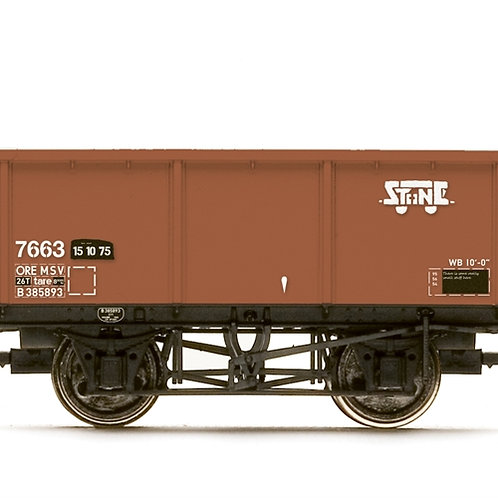 Hornby R6966 MSV 27 ton iron ore tippler 7663 in BR bauxite