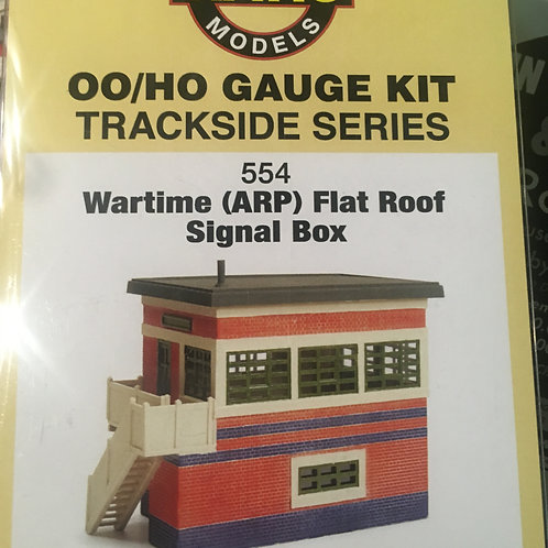 Ratio OO Wartime ARP Style Flat Roof Signal Box Plastic Kit 554
