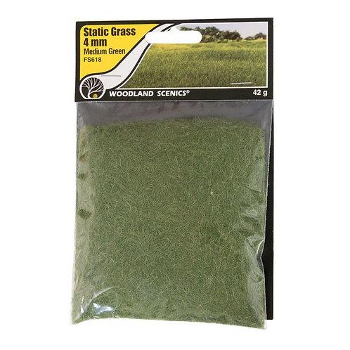Woodland Scenics FS618 4mm Static Grass Medium Green