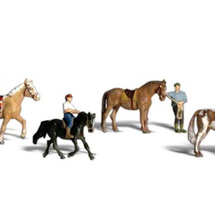 N Gauge Figures Horseback Riders