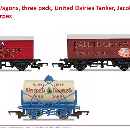 Hornby R6991 Triple pack of Hornby Retro wagons