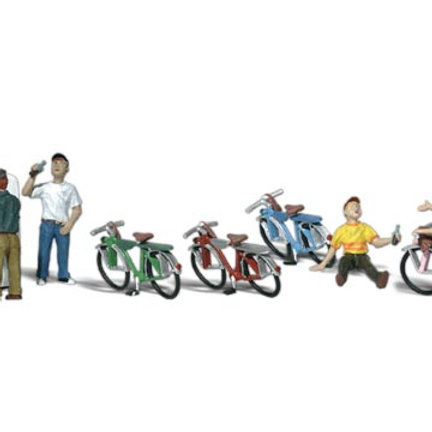 00 Gauge Figures Bicycle Buddies