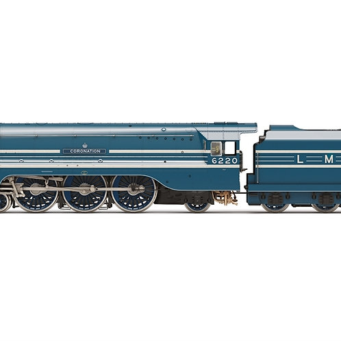 Hornby R3857 Class 8P Streamlined Coronation 4-6-2 6220 'Coronation' in LMS blue