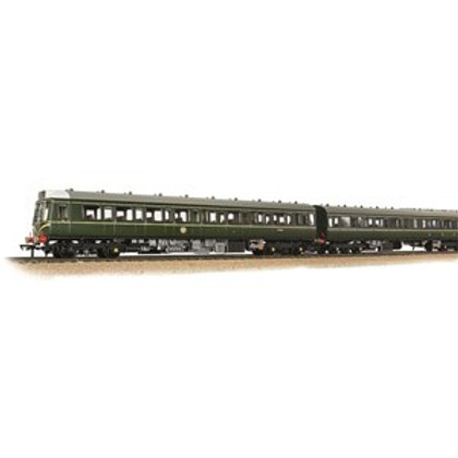Bachmann 35-500 Class 117 3-Car DMU BR Green (Speed Whiskers) Sound Fitted