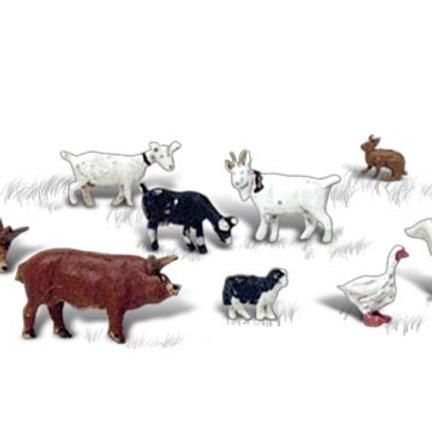 N Gauge Figures Barnyard Animals