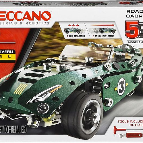 Meccano 5 in 1 Roadster Pull Back Car Building Kit