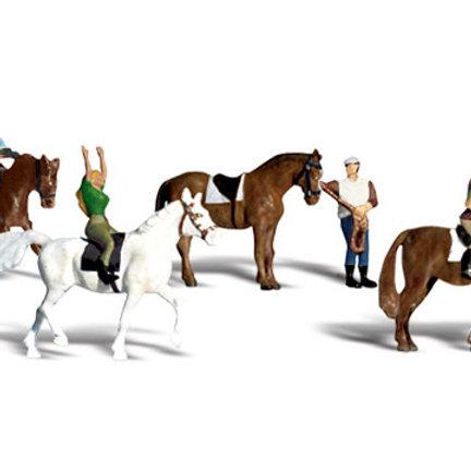 00 Gauge Figures Horseback Riders