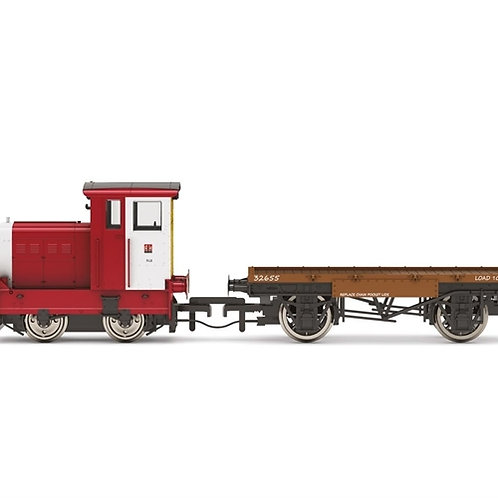 Hornby R3705 Ruston 48DS 458957 in John Dewar and Sons red with match wagon