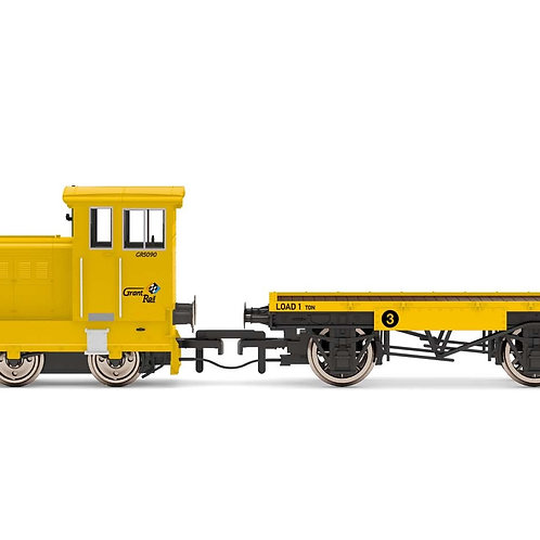 Hornby R3853 Ruston 48DS GR5090 in GrantRail yellow