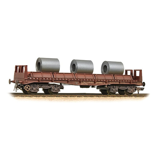 Bachmann 38-353 BAA steel coil carrier in BR bauxite with coils - Weathered