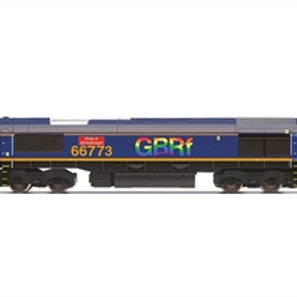 """Hornby R30023 Class 66/7 66773 """"Pride of GB Railfreight"""" in GBRf livery"""