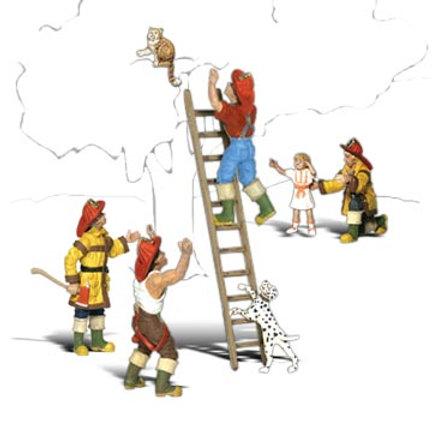 N Gauge Figures Firemen