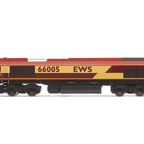 Hornby R3777 Class 66/0 66005 in EWS maroon and gold