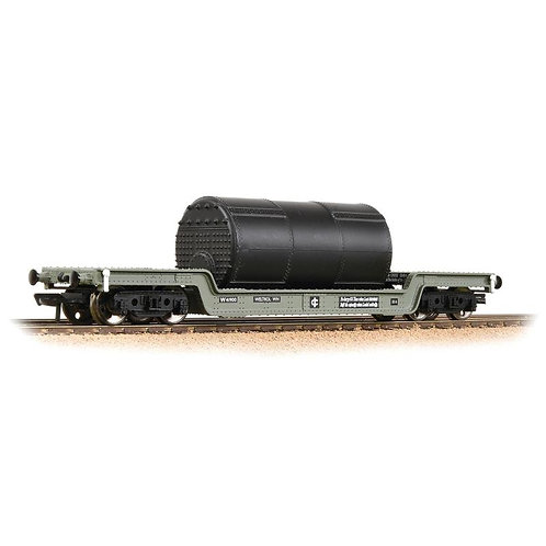 Bachmann 33-901F 45 ton bogie well wagon in BR grey with boiler load