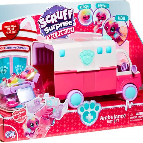 Scruff Surprise Pet Rescue Ambulance Play Set