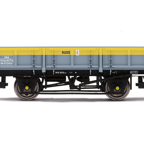 Hornby R6894 ZBA 'Rudd' wagon DB972009 in departmental grey and yellow