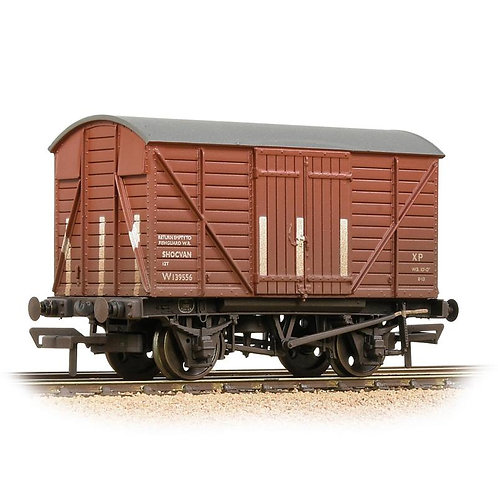 Bachmann Branchline 37-902B 12 ton shock absorbing van in BR bauxite - weathered