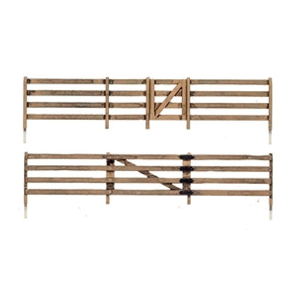 A2982 H0 Gauge Rail Fence by Woodland Scenics