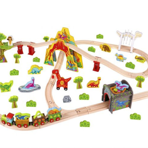 Wooden Large Dinosaur Train Set