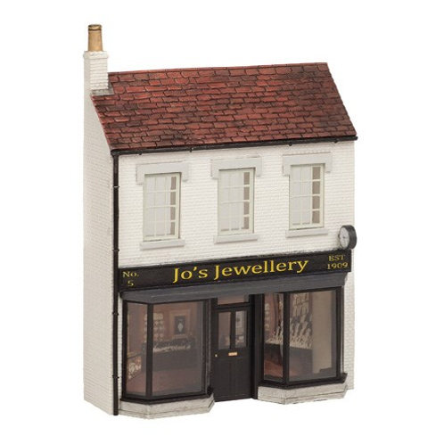 "Bachmann 44-282 Low Relief ""Jo's Jewellery"" store."