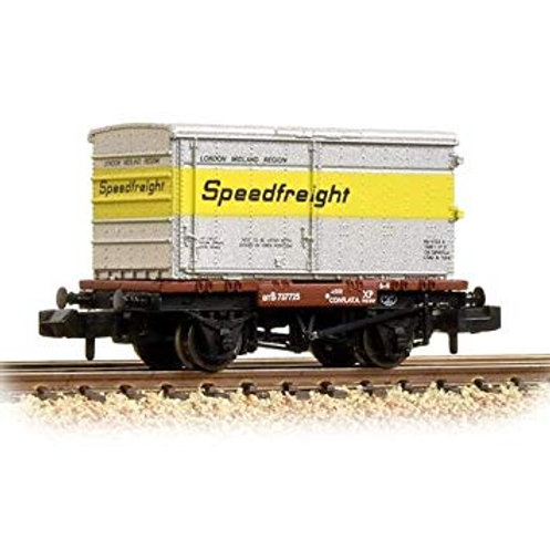 Bachmann 37-990 Conflat with BA standard container in Speedfreight livery