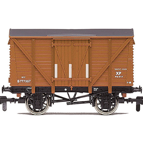 Hornby R60028 12 ton ventilated van B777387 in BR bauxite - Due Aug-21