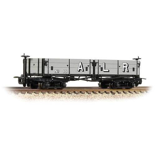 Bachmann Branchline 393-055 Open Bogie Wagon Ashover Railway Light Grey (Early)