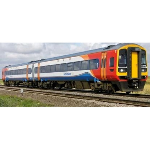 Bachmann Branchline 31-518 Class 158 2 Car DMU 158773 in East Midlands Trains