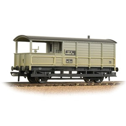 Bachmann 33-308A GWR 20T 'Toad' Brake Van BR Grey (Early) Weathered