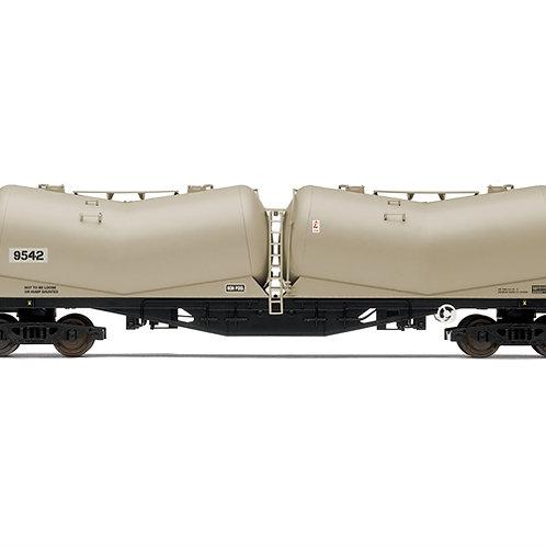 Hornby R6979 102 ton PDA bogie persflow cement tank 9542 in APCM grey