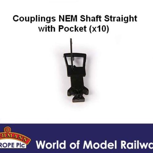 Bachmann Branchline 36-030 Pack of ten NEM long straight couplings with pocket
