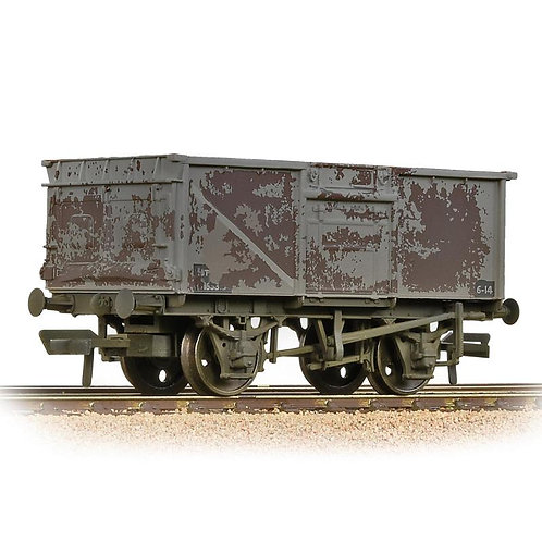 Bachmann 37-227B BR 16T Steel Mineral Wagon BR Grey (Late) (Weathered)