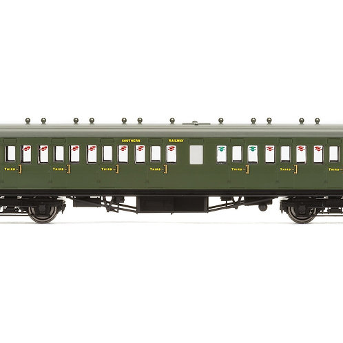 Hornby R4720A 58' Maunsell Rebuilt (Ex LSWR 48') nine compartment 3rd 364 in SR