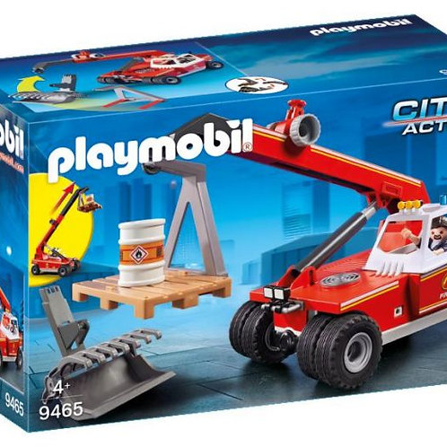 Playmobil City Action Fire Crane with Pallet Fork