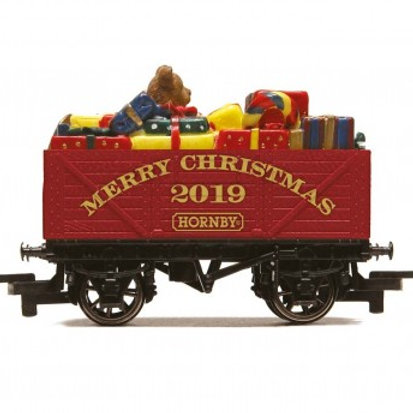 Hornby R6932 2019 Merry Christmas gift open wagon